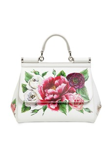 Dolce & Gabbana Medium Sicily Floral Printed Leather Bag