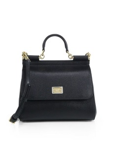 Dolce & Gabbana Medium Sicily Leather Top Handle Satchel
