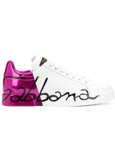 Dolce & Gabbana metallic heel sneakers