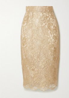 Dolce & Gabbana Metallic Lace Midi Skirt