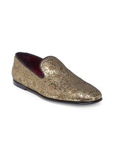 Dolce & Gabbana Metallic Pattern Slip-On Loafers