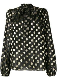 Dolce & Gabbana metallic polka dot blouse