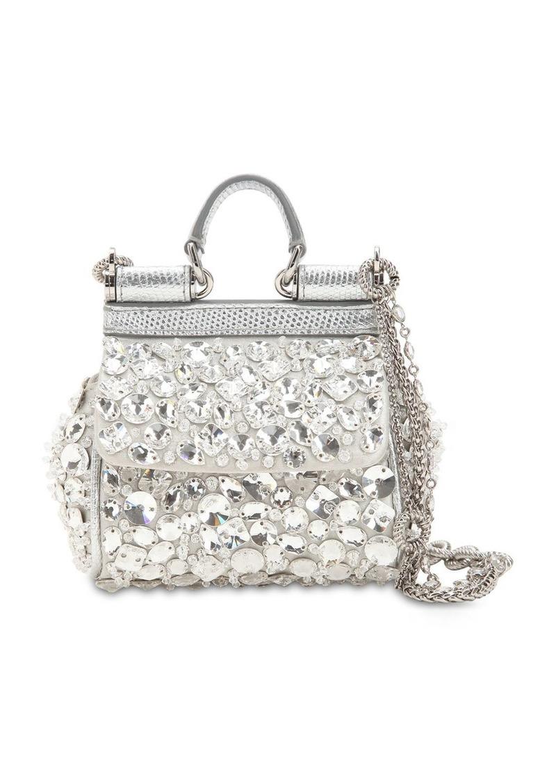 356b61dcbf4 Micro Sicily Crystals Embellished Bag