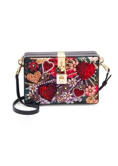 Dolce & Gabbana Milano Embellished Leather Convertible Clutch