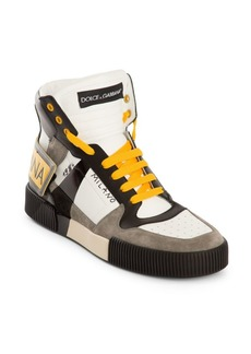 Dolce & Gabbana Milano High-Top Leather & Suede Sneakers