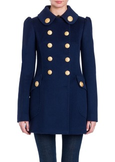 Dolce & Gabbana Military Double-Breasted Wool Coat