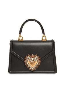 Dolce & Gabbana Mini Devotion Leather Top Handle Bag