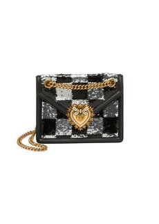Dolce & Gabbana Mini Devotion Sequin Crossbody Bag