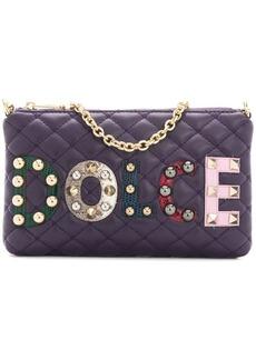 Dolce & Gabbana mini quilted shoulder bag with patch appliqués
