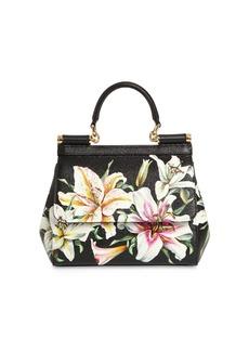 Dolce & Gabbana Mini Sicily Lily Print Leather Bag