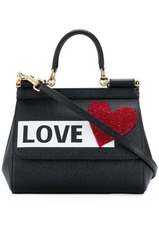 Dolce & Gabbana mini Sicily love patch shoulder bag