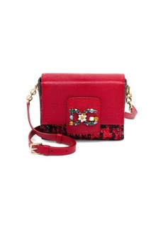Dolce & Gabbana Mini Tweed & Leather Crossbody Bag