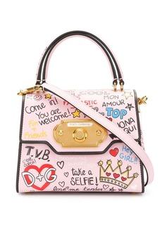 Dolce & Gabbana mini Welcome mural print tote