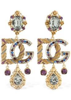 Dolce & Gabbana Multi Crystals Barocco Clip-on Earrings