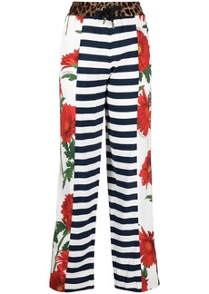 Dolce & Gabbana multi-panel straight-leg trousers