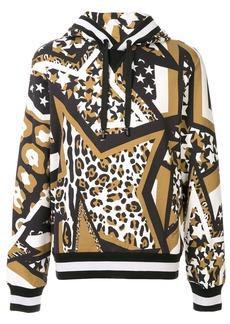 Dolce & Gabbana multi-print cotton hoodie