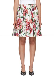 Dolce & Gabbana Multicolor Floral Peonies Miniskirt