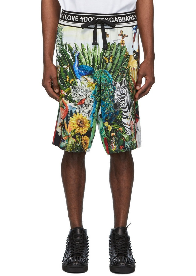 Dolce & Gabbana Multicolor Mix Hawaii Shorts