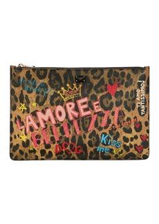 Dolce & Gabbana Murales Leopard Graffiti Clutch