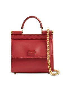 Dolce & Gabbana Nano 58  Leather Chain Wallet