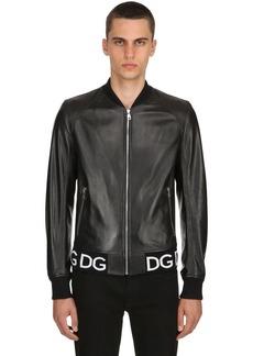 Dolce & Gabbana Nappa Leather Bomber Jacket