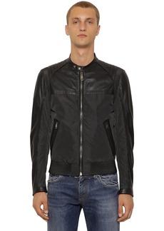 Dolce & Gabbana Nylon & Nappa Leather Biker Jacket