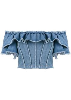 Dolce & Gabbana off-the-shoulder denim top