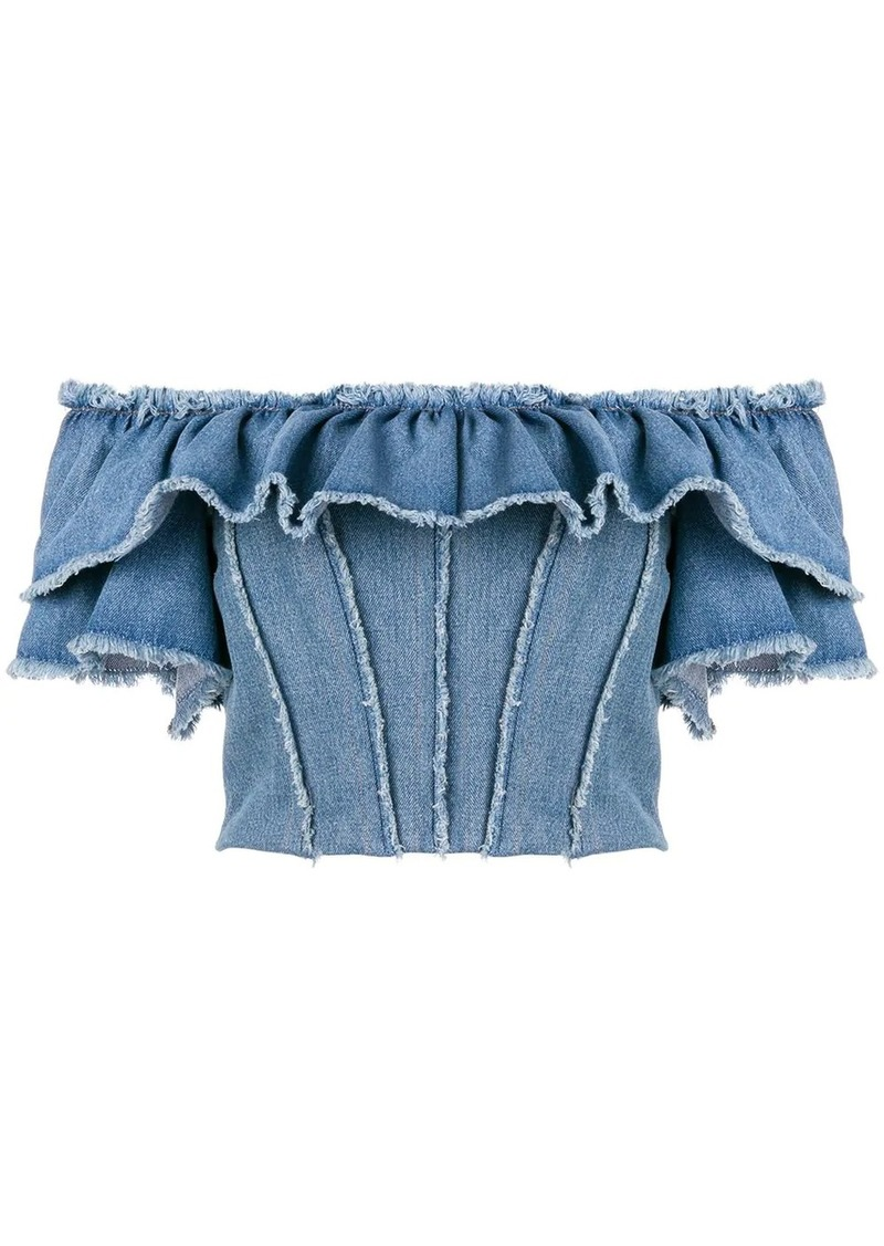 Dolce & Gabbana off-the-shoulder denim top