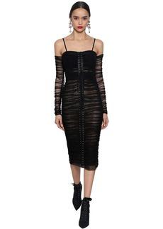 Dolce & Gabbana Off-the-shoulder Stretch Tulle Dress