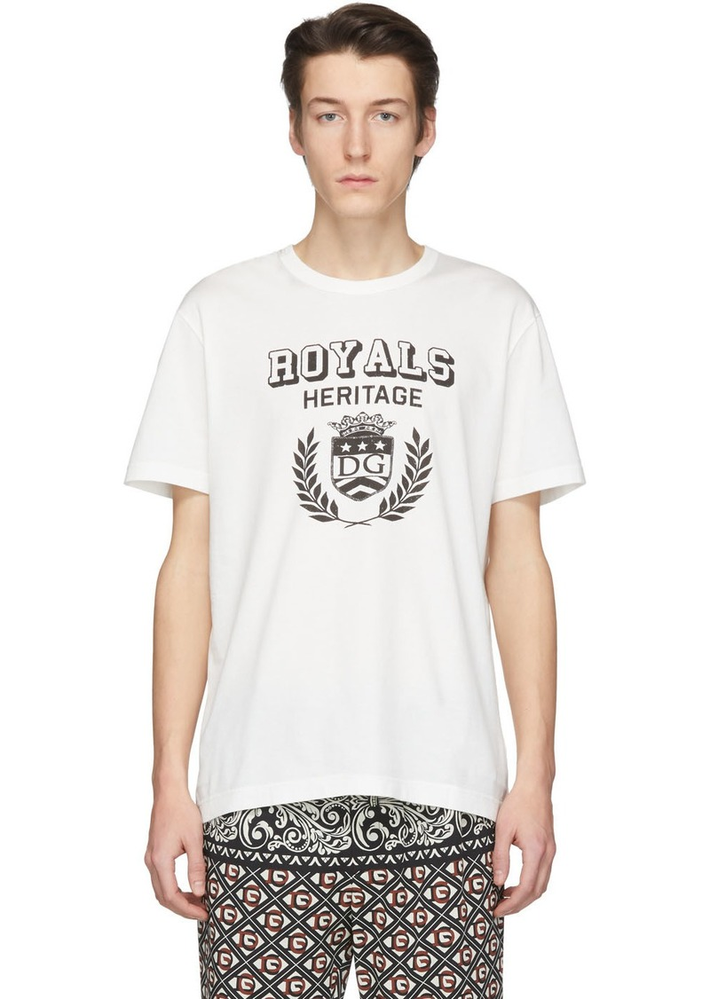 Dolce & Gabbana Off-White 'Royals Heritage' T-Shirt