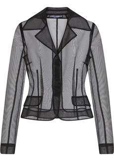 Dolce & Gabbana organza single-breasted jacket