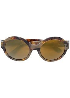 Dolce & Gabbana oval-shaped mirrored sunglasses
