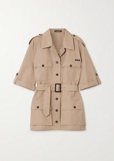 Dolce & Gabbana Oversized Belted Cotton Jacket
