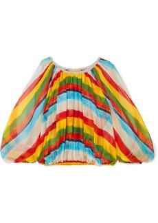 Dolce & Gabbana Oversized Striped Silk-chiffon Top