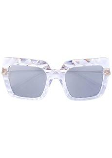 Dolce & Gabbana oversized textured frame sunglasses