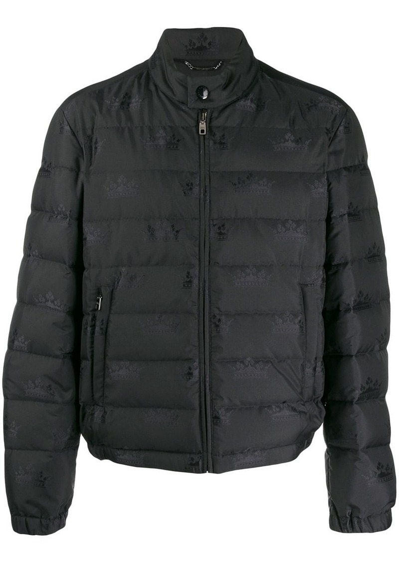 Dolce & Gabbana padded jacket with crown print