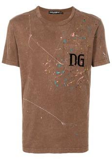 Dolce & Gabbana paint-splatter logo T-shirt