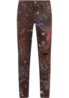 Dolce & Gabbana paint splatter-print jeans