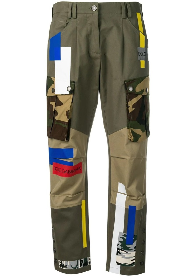 Dolce & Gabbana patched cargo pants