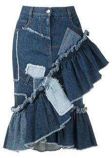 Dolce & Gabbana patchwork denim skirt