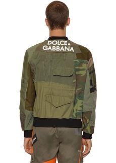 Dolce & Gabbana Patchwork Military Jacket W/ 3d Logo