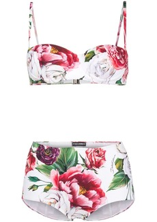 Dolce & Gabbana peony-print bikini