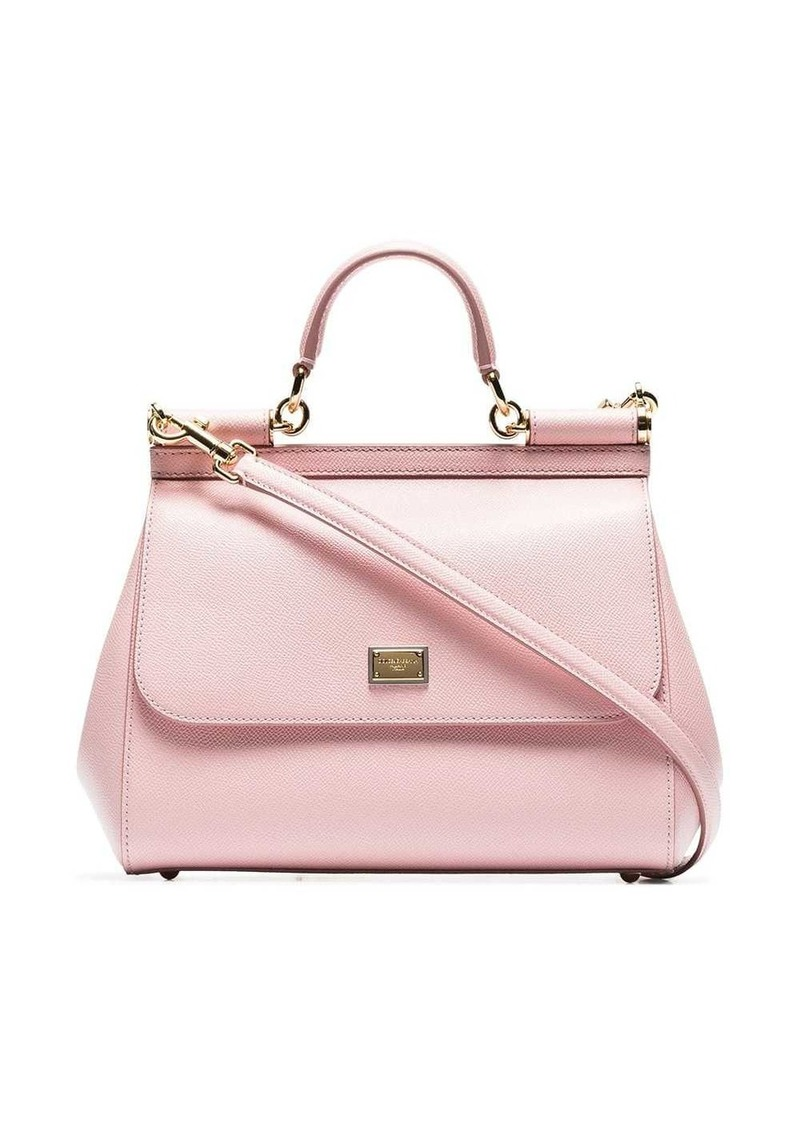 Dolce & Gabbana pink Sicily medium leather tote