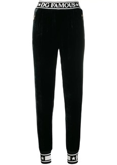 Dolce & Gabbana piped logo track pants
