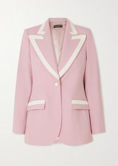 Dolce & Gabbana Piped Wool-blend Blazer
