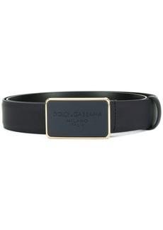 Dolce & Gabbana plaque belt