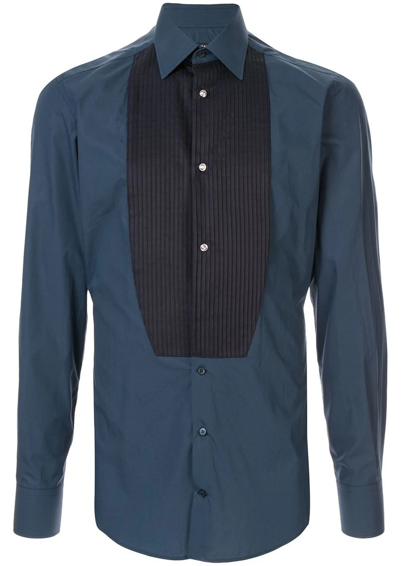 Dolce & Gabbana pleated bib slim shirt
