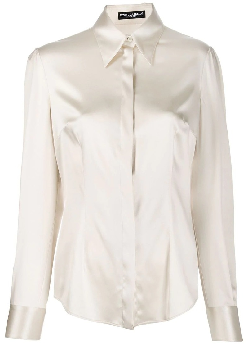 Dolce & Gabbana pointed collar shirt
