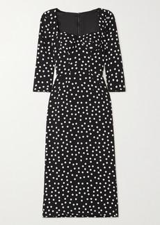 Dolce & Gabbana Polka-dot Cady Midi Dress