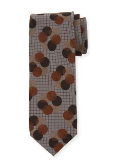 Dolce & Gabbana Polka-Dot Grid Silk Tie
